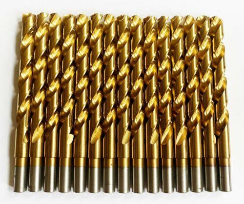 """15 DEWALT TITANIUM 7//16/"""" HIGH SPEED STEEL DRILL BITS SPLIT POINT METAL GOLD HSS"""