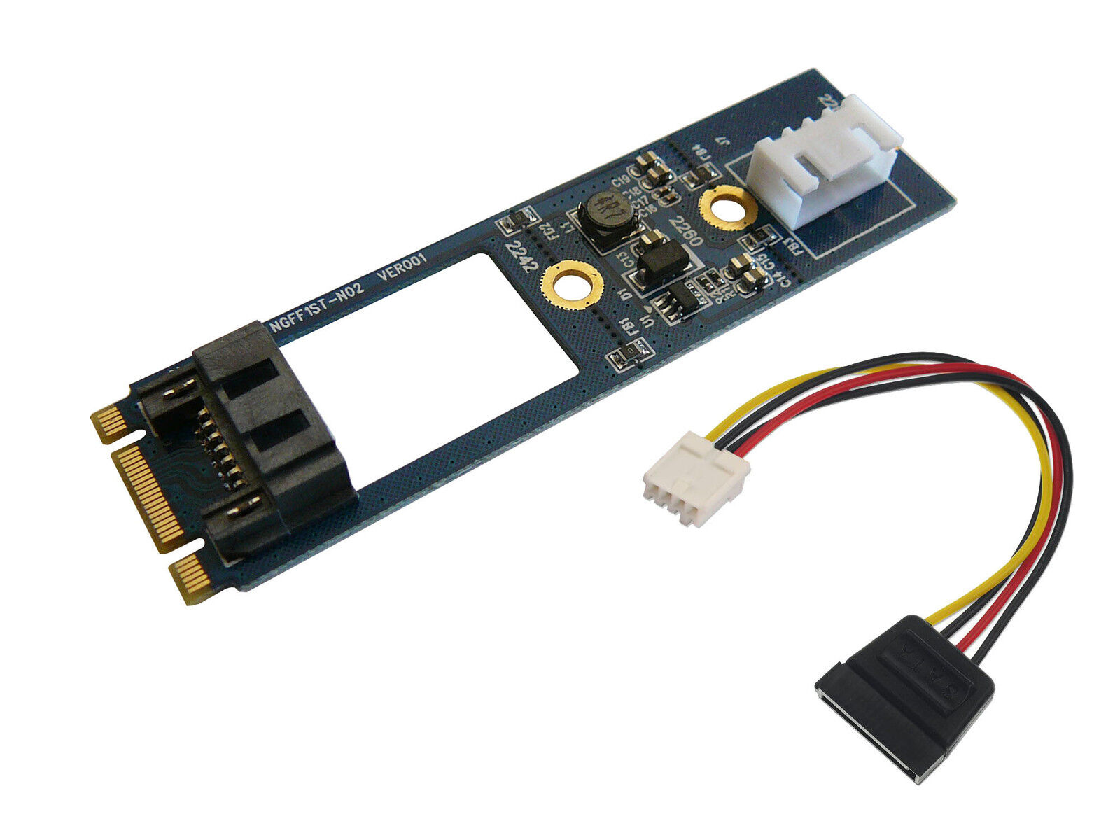Controller Card M2 - 1 Port SATA 3 6GBps - M.2 Ngff