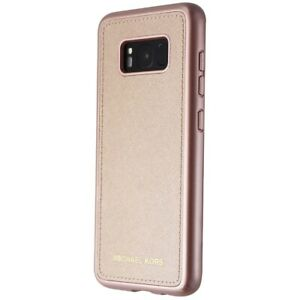 outlet store a4862 f3684 Details about Michael Kors Snap-On Leather Case for Samsung Galaxy S8 -  Rose Gold