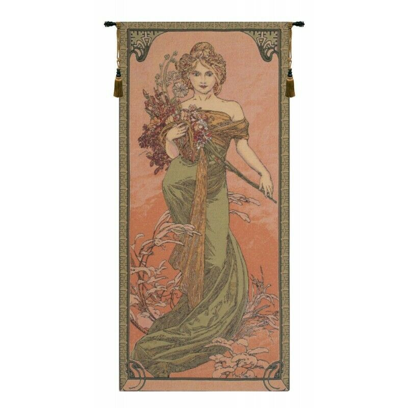 Mucha Spring Belgian Tapestry Wand Hanging