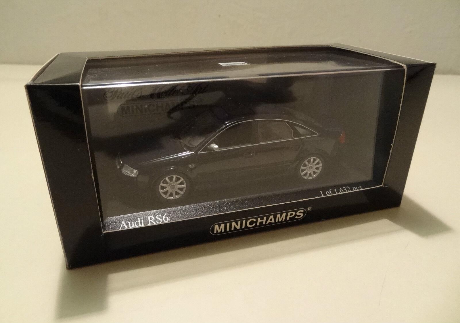 Audi Rs 6 Sedán 2002 blue Metalizado Minichamps 1 43