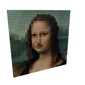 Portrait 100% Lego 32x32 (25x25cm) La Joconde or yours  15 days delivery