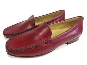 buy popular 470fb 5a791 Details zu SIOUX Mokkassins Leder Schuhe Halbschuhe Slipper Loafer rot Gr.  40 UK 6,5 F