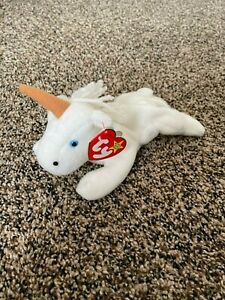 Ty Beanie Baby - MYSTIC - Tan horn, Coarse mane - 1993, MINT with MINT TAGS