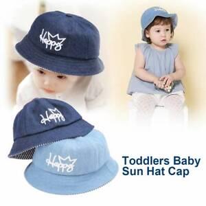 ed020c97 Baby Soft Cotton Summer Hat Infant Newborn Bucket Hat Denim Cotton ...