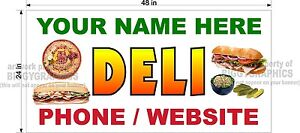 2-039-X-4-039-VINYL-BANNER-DELI-DELICATESSAN-FOOD-CUSTOM-NAME-GRAPHICS-NEW