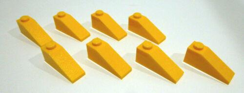 8 x LEGO® 4286 Systemstein,Dachsteine 1x3//25° in hell orange Neuware.