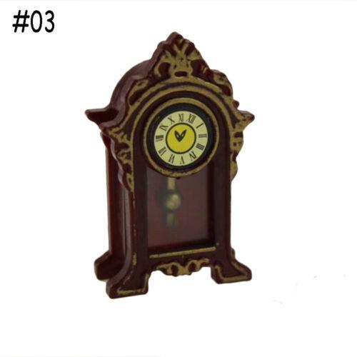 Häuser Puppenzubehör Schallplattenuhr 1:12 Puppenhaus Dekor Miniatur-Telefon