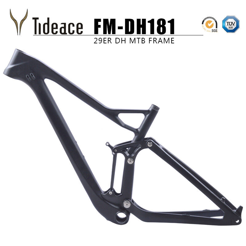 29er t800 CARBON FULL sospensione Mountain Bicycle Frame bb92 TappetinoGlossy OEM