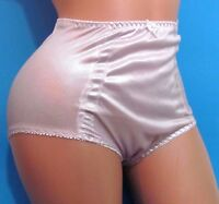 Baby Pink Shiny Metallic High Waist Brief Sissy Girdle Panties Sz M L Xl Xxl