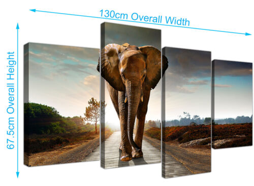 Elephant Canvas Art Prints African Wildlife Canvases for Living Room