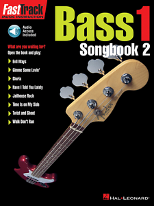 """FASTTRACK /""""BASS SONGBOOK 2/"""" LEVEL 1-TAB MUSIC BOOK//AUDIO ACCESS-INSTRUCTION-NEW!"""