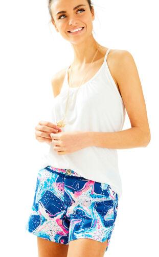 NWT Lilly Pulitzer Adie Shorts Indigo Star Struck sz 4