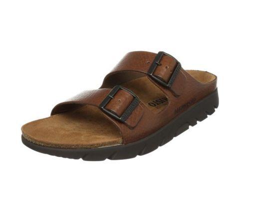 Mephisto Zonder Tan Grain Comfort Sandal Slide Mens 40-48 NEW