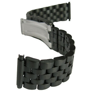 18mm 20mm 22mm hadley roma mb5188 matte pvd black metal mens watch image is loading 18mm 20mm 22mm hadley roma mb5188 matte pvd