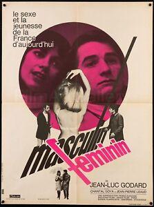 Details About Masculin Feminin 1966 French 23x31 Poster Jean Luc Godard Filmart Gallery