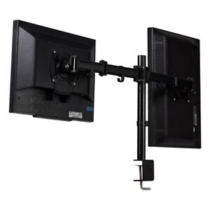 Miraculous Details About Dual Monitor Mount Desk Stand Adjustable Arm Tilt Swivel Rotate Vesa Bracket Us Home Interior And Landscaping Mentranervesignezvosmurscom