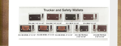 AMISH HANDMADE LEATHER WALLETS-BI-FOLD-TRUCKER-SAFETY-ROPER-CHECKBOOK COVERS