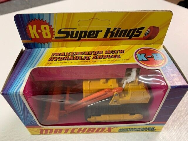 Coche Matchbox Super King K-8 Traxcavator with hydraullic Shovel