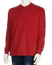 Smiths Workwear - Mens L - NWT - Red Cotton Easy-Fit Henley Shirt - Pocket