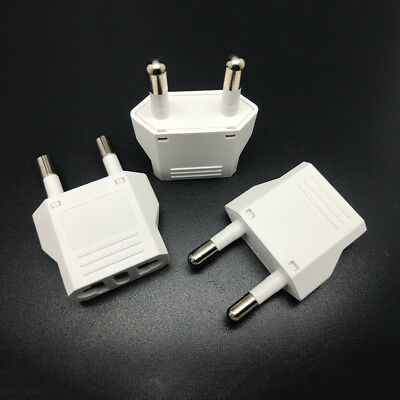 2Pcs Travel Charger Wall AC Power Plug Adapter Converter US USA to EU Europe