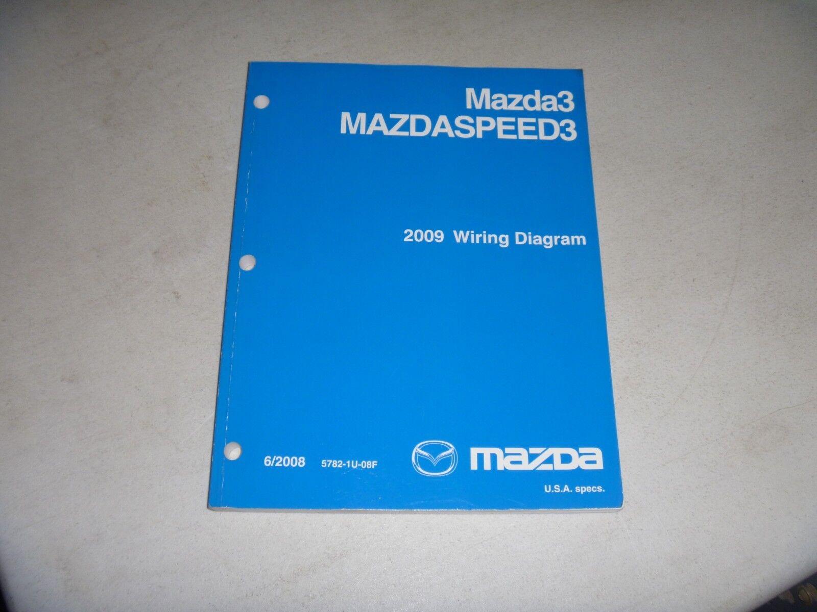 2009 Mazda 3 Mazda3 Mazdaspeed3 Electrical Wiring Diagram Manual