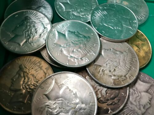 Silver Peace Dollar Cull 1922-1935 Lot of 100 S$1 Coins *Credit Card Pmt Only