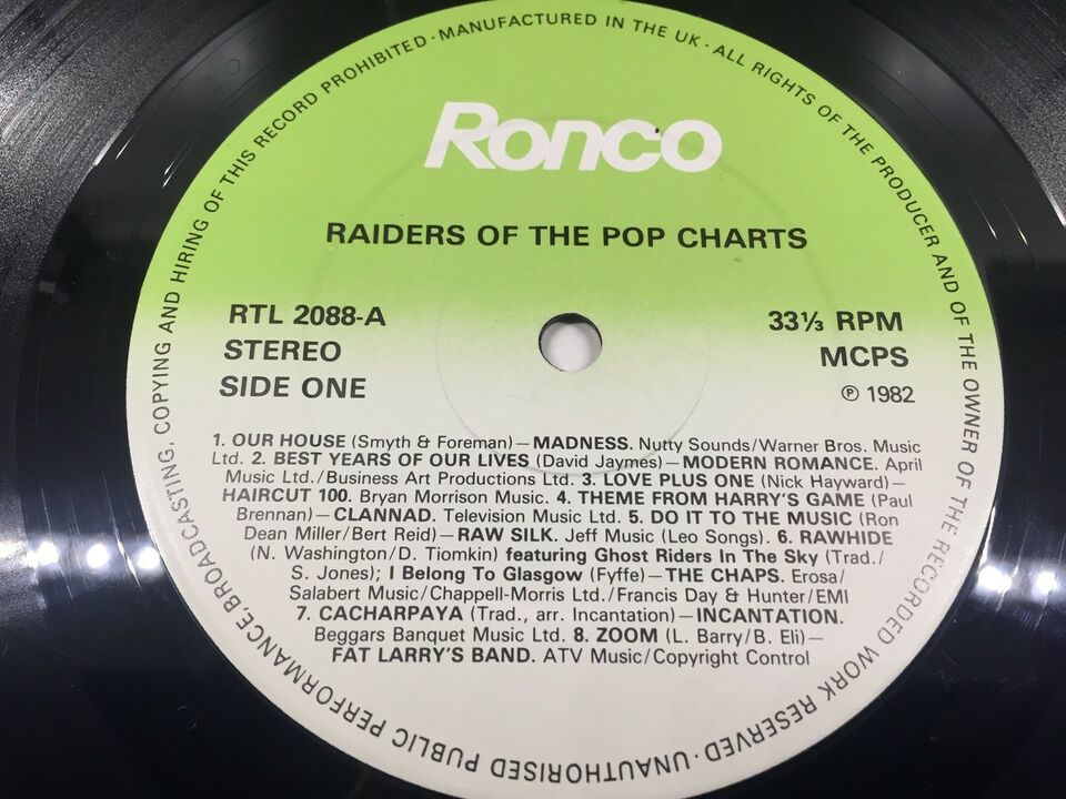 LP, Raiders Of The Pop Charts - Part 1