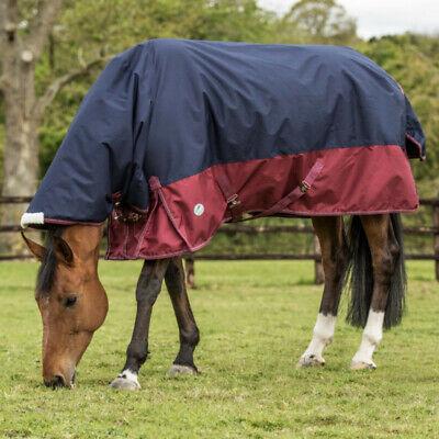 "84/"" NAVY//SILVER Medium 200g NWT Horseware Rambo Wug Horse Turnout Blanket"
