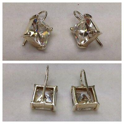 Schöne Ohrringe/Ohrhänger 925er Silber Silberohrringe mit Farbstein
