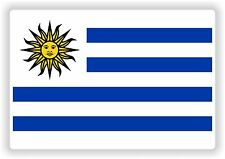 "URUGUAY flag sticker 2.8""x4"" 7x10cm Paraurti Decalcomania Tablet PC auto bici auto"