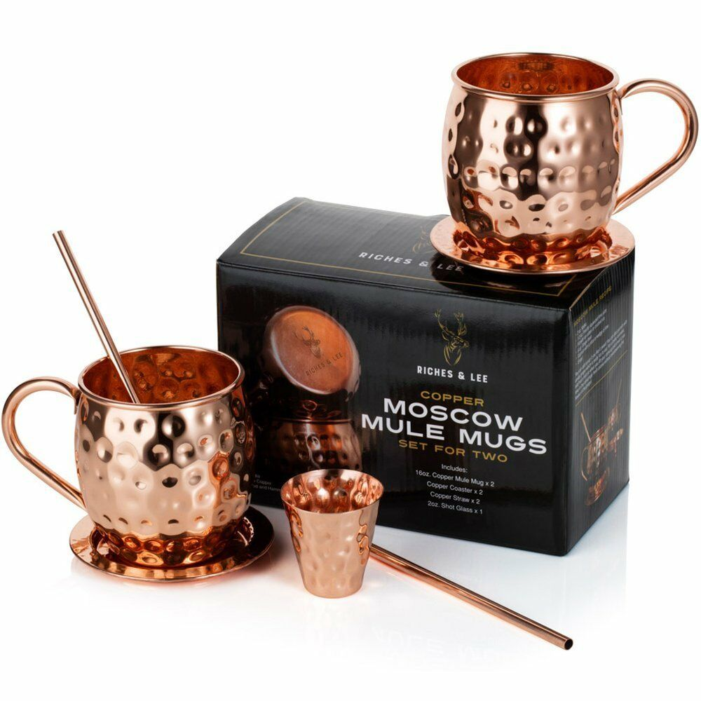 Handmade Hammerot Moscow Mule Copper Mugs Set Set Set of Two by Riches & Lee-This 100% 67ba64