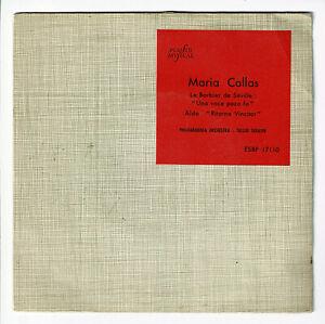 Maria-CALLAS-Vinyle-45T-7-034-LE-BARBIER-DE-SEVILLE-AIDA-COLUMBIA-17110-RARE