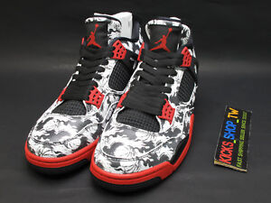 e1920ef6708c 2018 NIKE AIR JORDAN 4 RETRO SNGL DAY TATTOO MENS BQ0897-006 BG ...