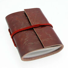 Fair Trade Eco Friendly Handmade Mini Single Bound Embossed Leather Notebook