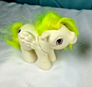 Vintage-80s-My-Little-Pony-G1-Baby-Surprise-white-Horse-Toy-figure-MLP-FS