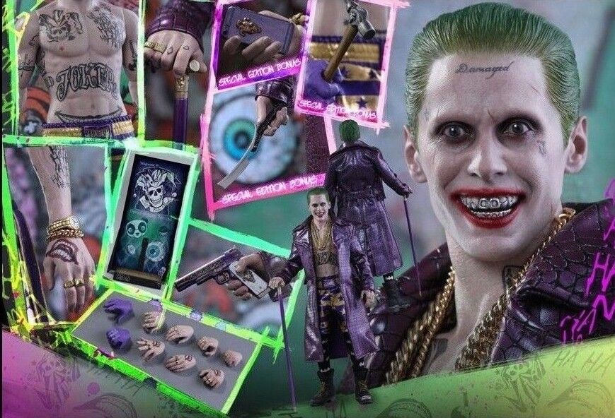 Hot Toys 1/6 Suicide Squad The Joker lila Coat Coat Coat Version Special Edition MMS382 2f4a12