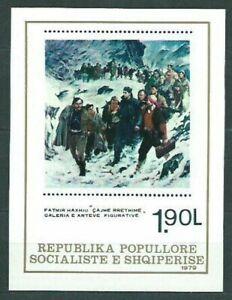 Albania Hojas 1980 Yvert 44 MNH Painting