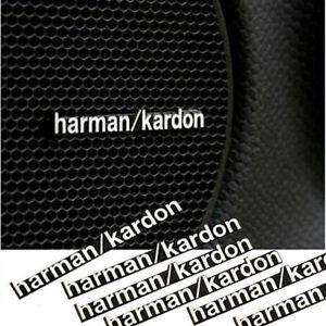 6-x-Harman-Kardon-Car-Audio-Lautsprecher-3D-Aluminium-Abzeichen-Emblem-Aufkleber