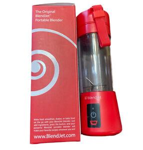 Red BlendJet Portable Juice Mixer Rechargeable Mini Blender 10 Oz No Cord
