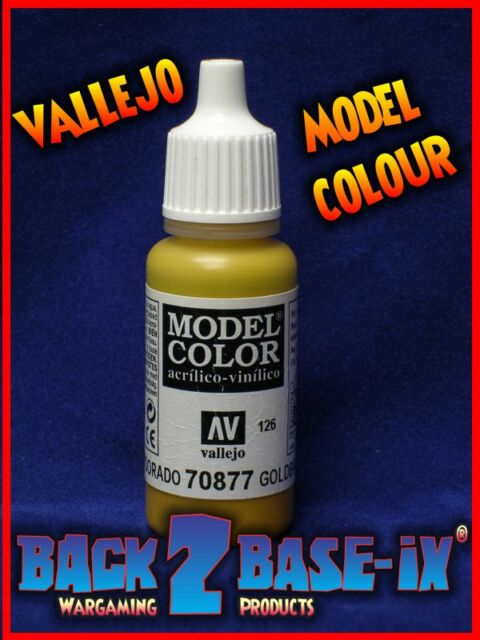 Vallejo Model Color Acrylic Paint 17ml Bottle Gold Brown 70877
