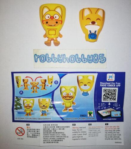 EN631 Rody-Eddy Mit Bpz Aus China Ferrero 2018//2019 Kinder Joy Pororo