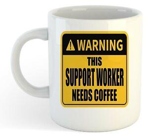 Warning-Esta-Soporte-Obrero-Necesita-Cafe-Blanco-Taza-Regalo-Trabajo-Regalo