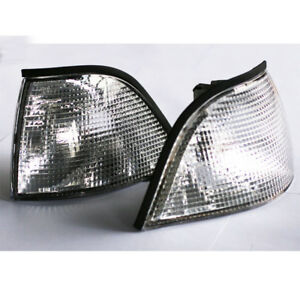 EURO-CORNER-LIGHTS-CLEAR-For-92-98-BMW-E36-3-SERIES-2DR-COUPE-CONVERTIBLE