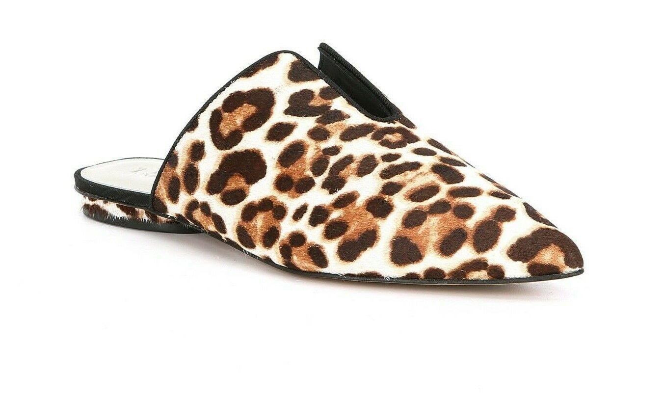 1. State Genia donna Dimensione 7.5M Leopard Print Calf Hair Point Toe Flat Mule New