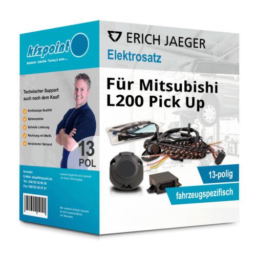 Für Mitsubishi L200 Pick Up 15-19 JAEGER E-Satz 13polig fahrzeugspezifisch NEU