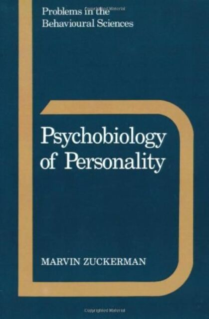 Psychobiology of Personality  : Marvin Zuckerman