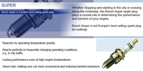 VOLVO V50 2.4i 167-167BHP 04-10 BOSCH Super Spark Plug FGR6NQE0