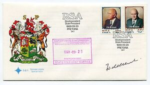South-Africa-F-W-DE-KLERK-Inauguration-1989-FDC-Super-Rare-Signed-and-Stamped