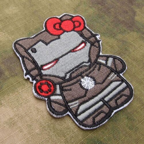 Tactics Kitty Morale Embroidery Patch Attack on Titan Kitty Iron Man